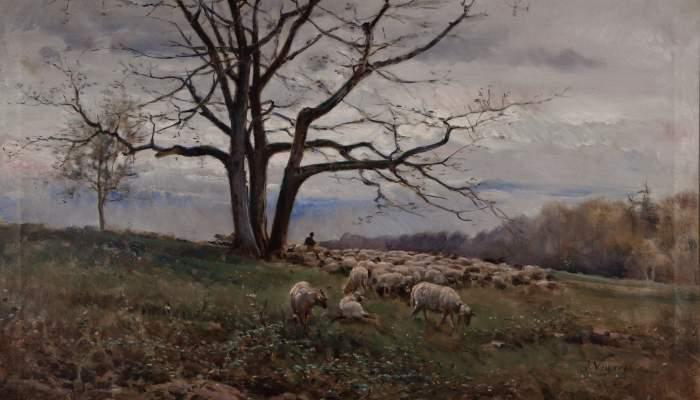 <p><em>Ramat al prat</em>, Joaquim Vayreda i Vila, 1881. Oli sobre tela, 67,7 x 116,5 cm. Museu d&#39;Art de Girona - Fons d&#39;Art Diputaci&oacute; de Girona.</p>