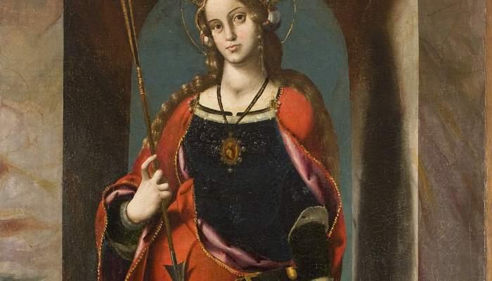 <p><em>Retaule de santa &Uacute;rsula</em>, Joan de Burgunya (Borgonya),&nbsp;cap a 1520-1523. Oli i tremp sobre fusta, 197 x 93 cm. Esgl&eacute;sia de Santa Maria d&#39;Olives, Sant Esteve de Guialbes. Museu d&#39;Art de Girona - Fons Bisbat de Barcelona