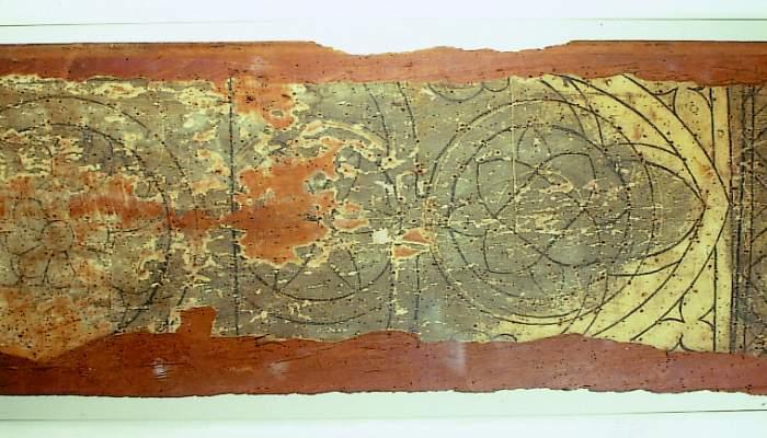 <p><em>Taules de vitraller,</em> segle XIV. Pintura al tremp sobre fusta de castanyer, 123 x 39 x 2,5 cm. Catedral de Santa Maria, Girona. Museu d&#39;Art de Girona - Fons Bisbat de Girona.</p>
