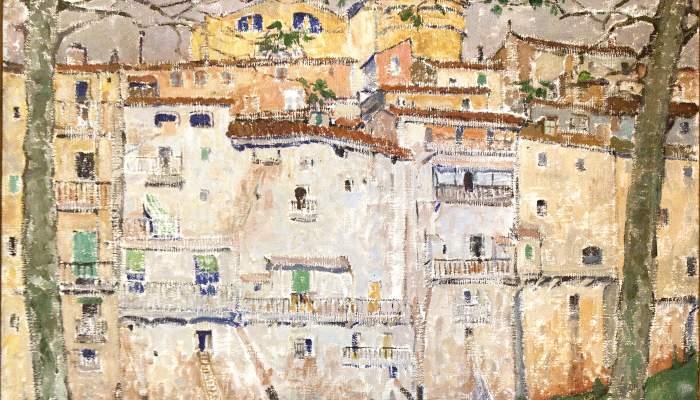 <p><em>L&rsquo;Onyar a Girona</em>, Mela (Maria Melania) Mutermilch, 1914. Oli sobre tela, 100 x 100 cm. Museu d&#39;Art de Girona - Fons d&#39;Art Diputaci&oacute; de Girona.</p>