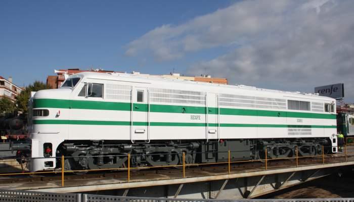 <p>Locomotora 1801 un cop restaurada</p>