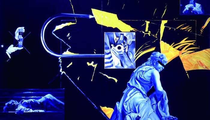 <p><em>ANG. N&deg; 5, ref. 991</em>, Jacques Monory, 1997, oli sobre tela i contraplacat</p>