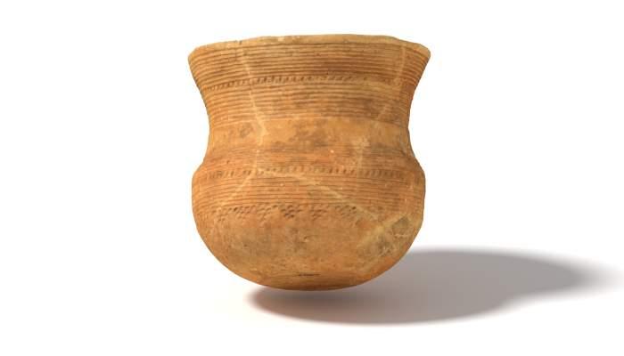 <p>Vaso campaniforme datado entre 2800 y 2200&nbsp;a.&nbsp;C. procedente del entierro calcol&iacute;tico de la Cova de la Ventosa (Piera).</p>