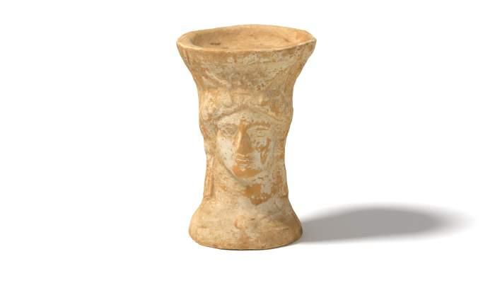 <p>Cernos de terracota procedent del Bordissal (Camarles). Data entre s. IV aC i s. II aC</p>