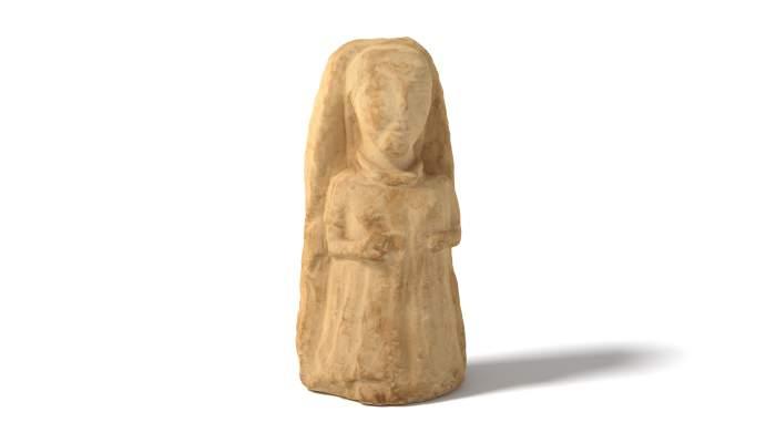 <p>Dama ib&egrave;rica procedent d&rsquo;un jaciment desconegut de M&uacute;rcia. Datada entre els segles IV-II aC</p>