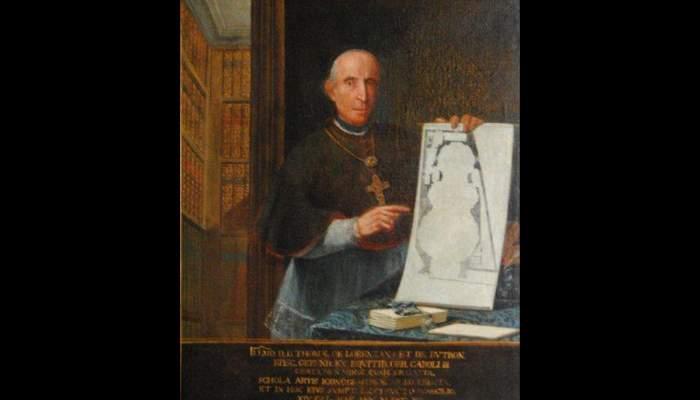 <p>Retrat del bisbe Lorenzana, Manuel Tremulles Roig (Barcelona 1715-1791), 1790, oli sobre tela, 144 &times; 119 cm. Cedit per l&rsquo;Institut Jaume Vicens Vives de Girona</p>