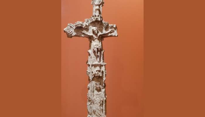 <p>Creu de la Culla, segles XIV-XV, escultura en pedra</p>