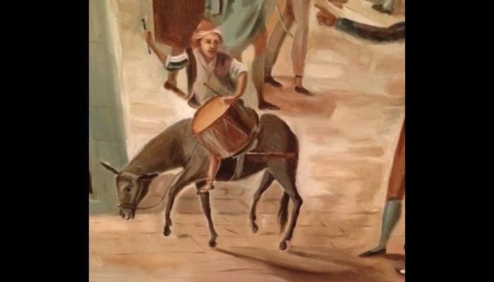 <p>Arribada del sometent a Manresa (Arrival of the Militia to Manresa), Francesc Cuixart i Barjau, 1897, oil on canvas</p>