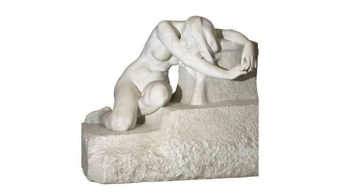 <p><em>Desolation</em>,&nbsp;Josep Llimona, 1907.&nbsp;Marble carving,&nbsp;66.4 x 78.8 x 68.8 cm.</p>
