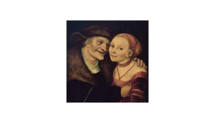 <p><em>Ill-matched couple</em>, Lucas Cranach,&nbsp;1517. Oil on wood,&nbsp;27.3 x 18 cm.</p>