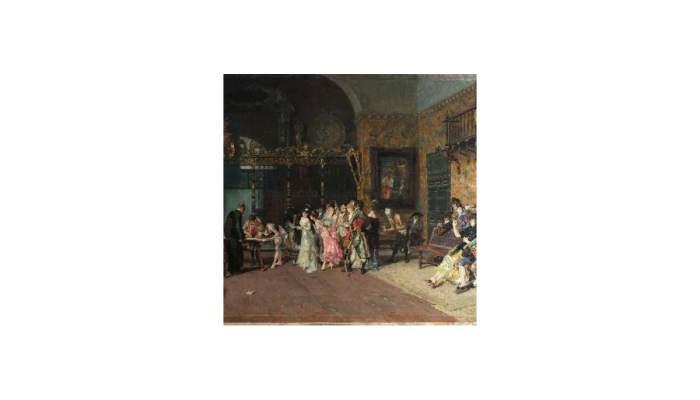 <p><em>The Spanish wedding</em>, Mari&agrave; Fortuny, 19th century. Oil on wood,&nbsp;60.5 x 94.5 cm.</p>