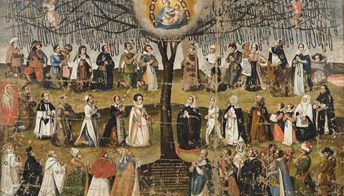 <p><em>El &aacute;rbol del rosario</em>, autor desconocido, segunda mitad del siglo XVII, iglesia de Sant Pere M&agrave;rtir, convento de los Dominicos, Manresa</p>