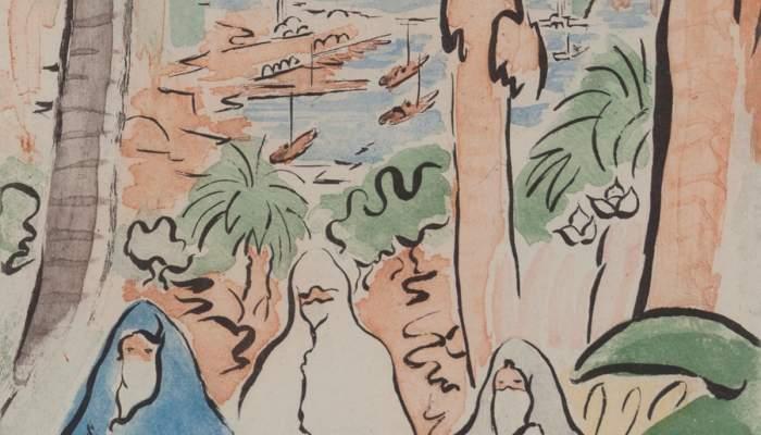 <p><em>Images d&rsquo;Alger (Images of Alger)</em>, Alfred Figueras Sanmart&iacute;, 1948, watercolour</p>
