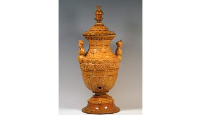 "<p><span style=""font-weight: 400;"">Gerra d&rsquo;aiguamans, segles&nbsp;XVIII-XIX, 95&nbsp;&times;&nbsp;17,5&nbsp;cm, Catalunya. Dip&ograve;sit Museu de Cer&agrave;mica de Barcelona</span></p> <p>&nbsp;</p>"