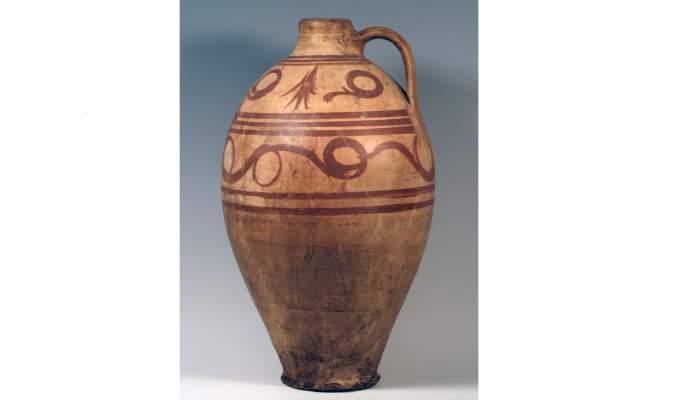 <p>Jug, second half of the 20th century, 55.5 &times; 32.2 cm, Priego (Conca)</p>