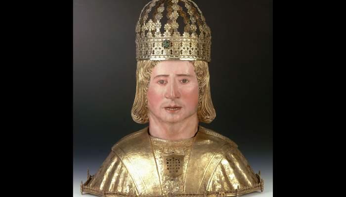 """<p><strong><span style=""""font-weight: 400;"""">Bust reliquiari de sant Sebastià, segle XVI, catedral de Solsona (el Solsonès).</span></strong></p>"""