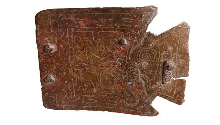<p>Hebilla de cintur&oacute;n, yacimiento ib&eacute;rico de Sant Miquel de Sorba (Montmajor, El Bergued&agrave;)</p>