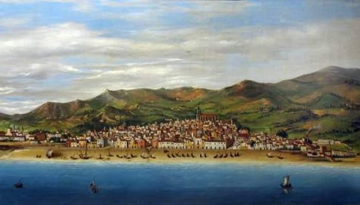 <p><strong><em>Matar&oacute; des del mar</em></strong>, 1872</p> <p>Laure&agrave; Esplugues (s/d)</p> <p>Oli sobre tela</p> <p>54x104 cm</p> <p>Foto: Museu de Matar&oacute;</p>