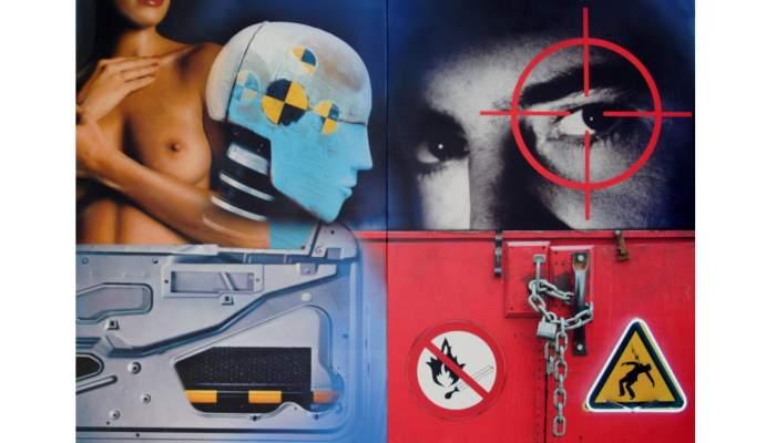 <p><em>La Bella i el maniqu&iacute;</em>, Peter Klasen, 2008, acr&iacute;lic sobre tela i ne&oacute;</p>