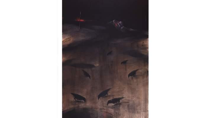 <p><em>Paysage</em>, Vladimir Veličković, 2001, oli sobre tela</p>