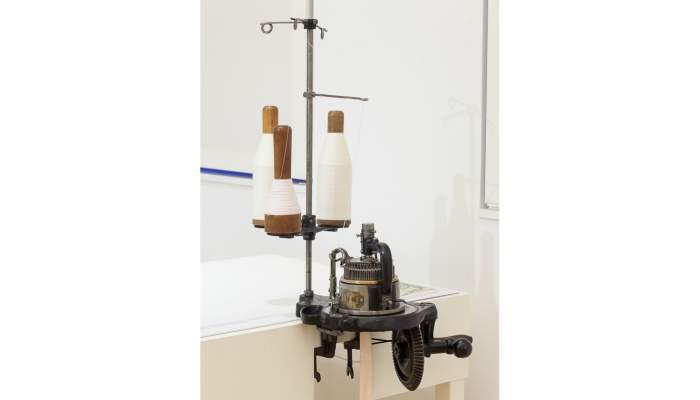 <p><strong>M&eacute;tier &agrave; tricoter circulaire Griswold</strong></p> <p>1896-1898</p> <p>The Griswold Stocking Knitter (Angleterre)</p> <p>Photo&nbsp;: Eusebi Escarpenter. Mus&eacute;e de Matar&oacute;</p>