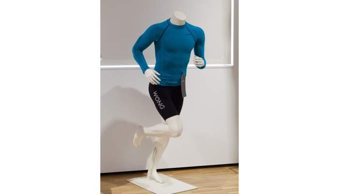 <p><strong>Ensemble de T-shirts et collants sportifs</strong></p> <p>Collection Wong Sport</p> <p>Vilaseca SA (Matar&oacute;)</p> <p>Photo: Eusebi Escarpenter</p> <p>Mus&eacute;e de Matar&oacute;</p>