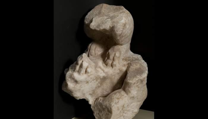 <p>Fragment d&rsquo;escultura, s. IIdC</p> <p>Marbre</p> <p>Procedent de Torre Llauder</p> <p>Foto: Ramon Manent. Museu de Matar&oacute;</p>