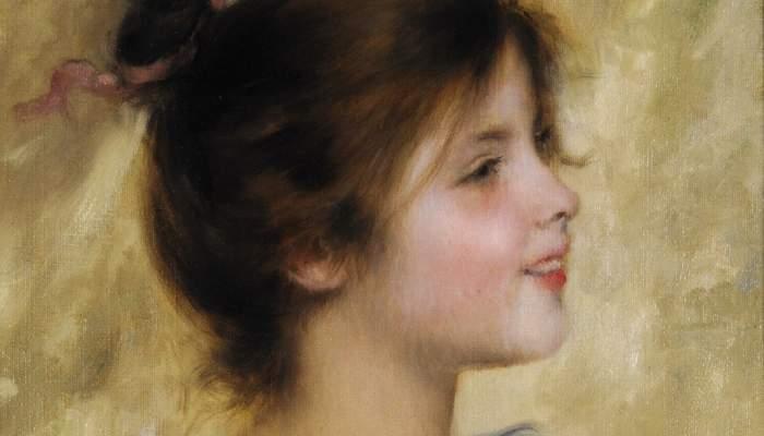 <p><em>Portrait d'une jeune fille</em>, Joan Brull, sans date. Huile sur toile, 41,2&times;31,8&nbsp;cm.</p>