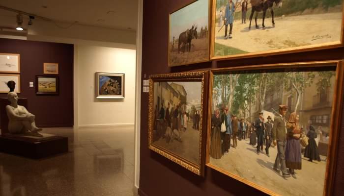 <p>Josep Blanquet Taberner (Figueres 1873 - c.1930). <em>Pujada del Castell</em>, 1899. Oli sobre tela. 70 x 93,5 cm.</p>