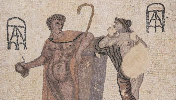 <p>Mosaic, vil&middot;la de Can Pau Birol (actual Bell-lloc del Pla), Girona, &egrave;poca romana, s. III.</p>