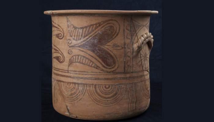 <p>Cálato, cerámica común íbera, Bosc del Congost (Sant Julià de Ramis, Gironès), época ibérica,225-175a.C.</p> <p></p>