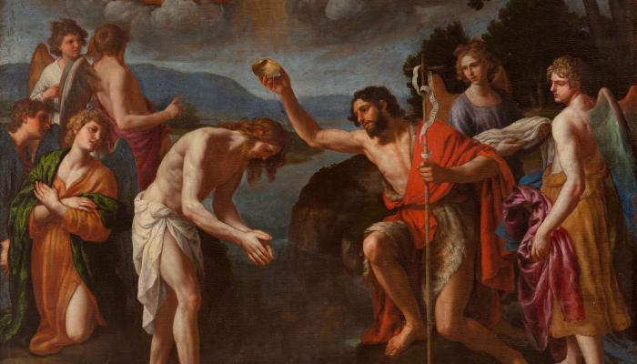 <p><em>El bateig de Crist</em>,&nbsp;Alessandro Turchi, cap al 1630. Oli sobre tela, 158 x 133 cm. Museu d&#39;Art de Girona - Dip&ograve;sit Museo Nacional del Prado.</p>