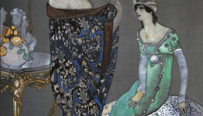<p>Xavier Gos&eacute; i Rovira</p> <p>1912</p> <p><em>Cont&eacute;</em>, <em>gouache</em> y&nbsp;fijador sobre cartulina</p>