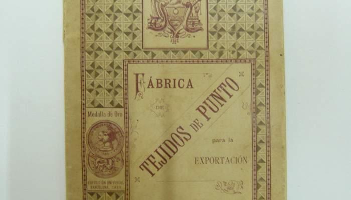<p><strong>Livre d'exportation de tissus tricot&eacute;s</strong></p> <p>1889</p> <p>F&agrave;brica Sobrino de Antonio Reg&agrave;s</p> <p>Matar&oacute;</p> <p>Photo&nbsp;: Mus&eacute;e de Matar&oacute;</p>