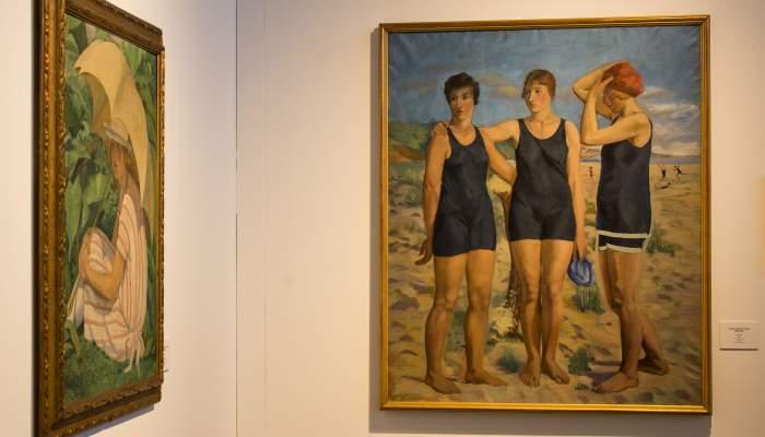 <p><em>Banyistes</em> (Bathers), Francesc Vayreda, 1920.&nbsp;Oil on canvas (145x120 cm).Private collection: Work on loan to Museum of La Garrotxa</p>