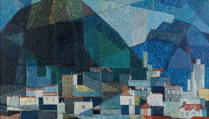 <p><em>Casas d'Olot</em>&nbsp;(The Houses of Olot), Josep Maria Vayreda Canadell,&nbsp;1956. Oil on canvas. Donation to Museum of La Garrotxa</p>