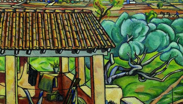 <p><strong>Enric Crist&ograve;fol Ricart i Nin</strong> (Vilanova I la Geltr&uacute;, 1893-1960)</p> <p><em>Porxo,</em> 1918</p> <p>Oli sobre tela Biblioteca</p> <p>Museu V&iacute;ctor Balaguer, Vilanova i la Geltr&uacute;</p>