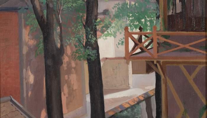 <p><strong>Manuel Humbert Esteve</strong> (Barcelone, 1890-1975)</p> <p><em>Un coin de Paris</em></p> <p>Paris, 1922</p> <p>Huile sur toile</p> <p>MNAC &ndash; Museu Nacional d&rsquo;Art de Catalunya, Barcelona</p>