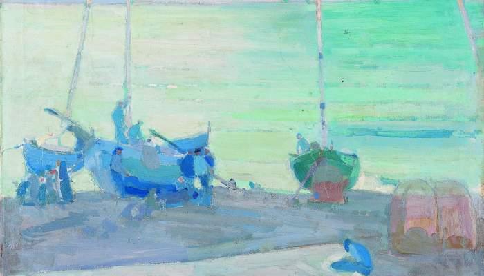 <p>Inv.: 249. Rafael Durancamps Folguera, Marina, c. 1918. Oli s. tela, 95 x 95 cm.</p>