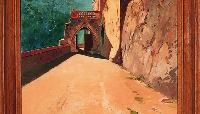 <p>Inv.: 1929. Joan Vila Cinca, <em>El Marquet de les Roques de la fam&iacute;lia Oliver, Sant Lloren&ccedil; Savall</em>, s.d. Oli s. tela, 181&rsquo;5x70 cm.</p>