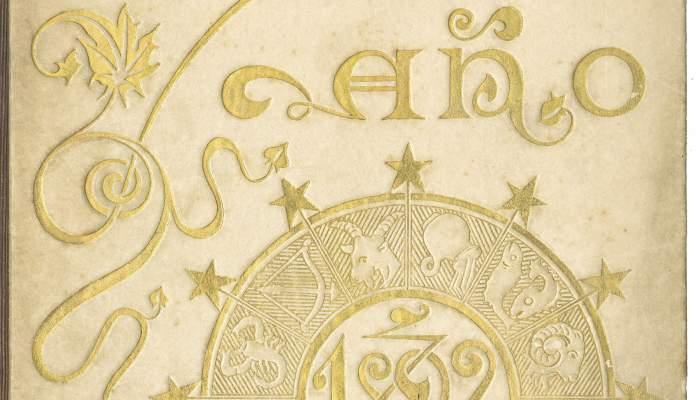 Cubierta de Calendario para el año 1892