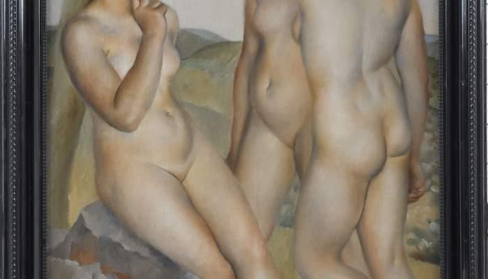 <p><em>Tres desnudos.</em> Josep de Togores Llach. Par&iacute;s, 1924. &Oacute;leo sobre lienzo. Dep&oacute;sito del Museo Nacional de Arte de Catalu&ntilde;a.</p>