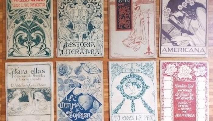 Cubiertas de varios autores de la colección «Biblioteca Universal Ilustrada»