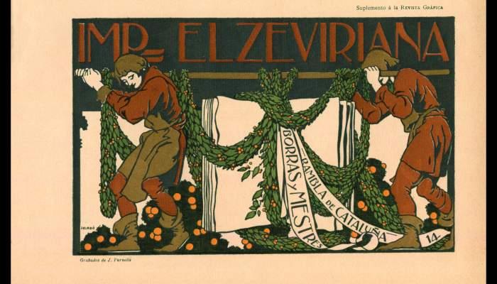 Anunci de la Imprenta Elzeviriana