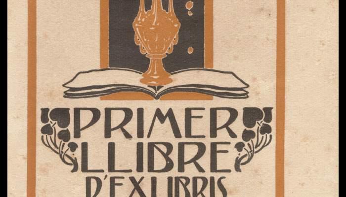Anuncio del Primer llibre d'exlibris d'en Triadó