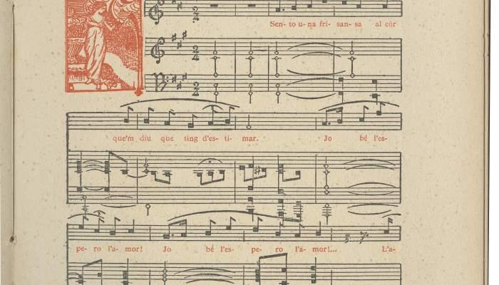 Partitura de «Cançó d'amor», de Boires baixes