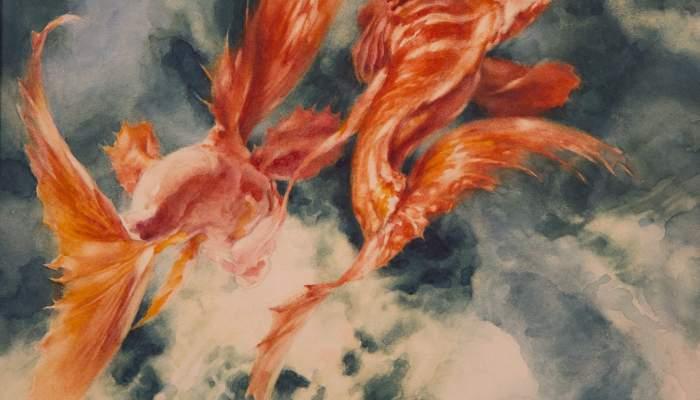 Els dos peixos fills del Rei Roig (Les mil i una nits)