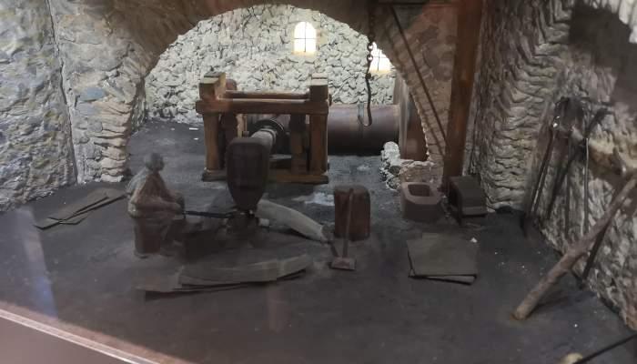 Martinete de fragua catalana (diorama)