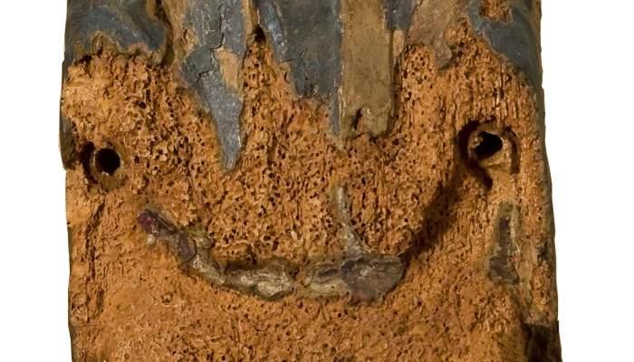 <em>Mare de D&eacute;u del Salvador</em>, segona meitat del segle XII. Talla de fusta policromada, 67,5 x 19 x 14,5 cm. Ermita de Sant Salvador, Cofolis. Museu d&#39;Art de Girona - Fons Bisbat de Girona.