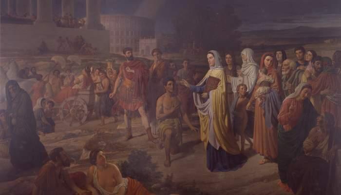 <p><em>La Era Cristiana</em>, Joaquim Espatller i Rull, 1871. &Oacute;leo sobre tela, 275 x 400 cm. Museo de Arte de Girona - Dep&oacute;sito Museo Nacional del Prado.</p>